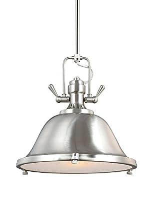 Sea Gull Lighting Stone Street 1-Light Pendant, Brushed Nickel