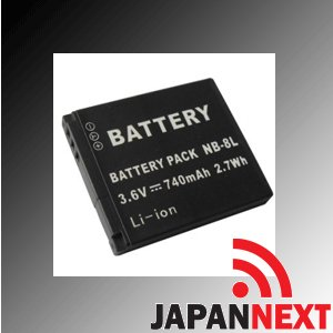 【クリックで詳細表示】Amazon.co.jp|CANON NB-8L対応バッテリーキヤノン PowerShot A3000 A3100 IS【JAPANNEXT】 保障付(JN-BAT)|カメラ通販