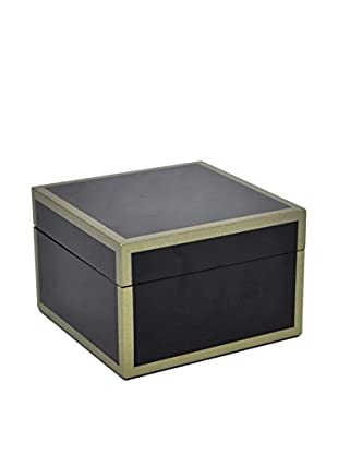 Three Hands Square Wood Box, Black