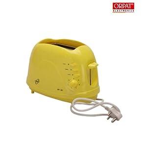 Orpat OPT-1057 700-Watt Pop-up Toaster (Yellow)