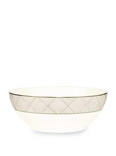 Noritake Everyday Elegance Veneto Large Round Bowl (White/Taupe)