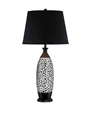 Lite Source Renzo Table Lamp, Black/Chrome
