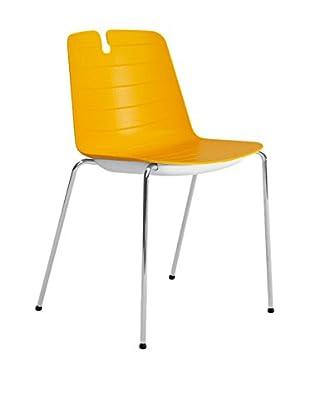 CONTRAST Stuhl 2er Set Mindy orange/weiß