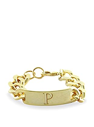 Ettika 18K Gold-Plated P Initial ID Bracelet