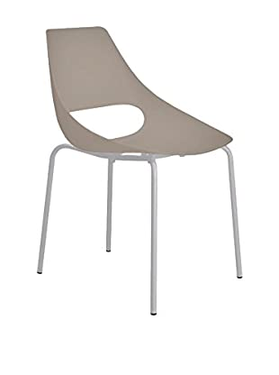 Metalmobil  Set Silla 2 Uds. Echo 150 Taupe / Gris