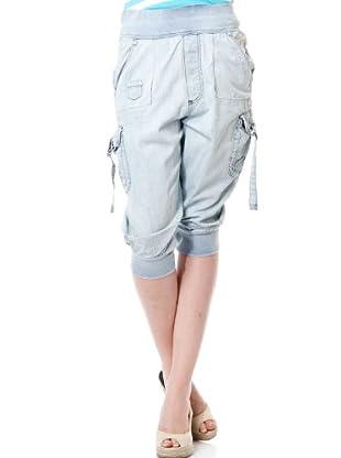 Pepe Jeans London Pantalón Pirata (Azul)