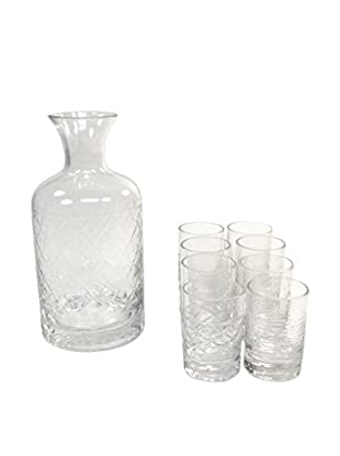 Glass Container with Set of 6 Glass, Clear
