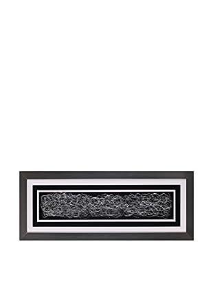 Concept Luxury Wandbild Abstract weiß/schwarz