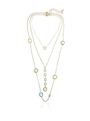 Daniela Swaebe Crystal Layered Necklace
