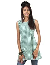 Rajrang Cotton Kurti - PTP00072 (Green)