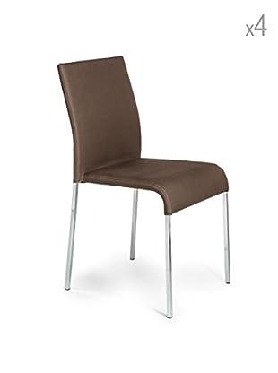 Tomasucci 4er Set Stühle Next braun
