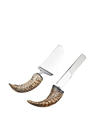 Godinger Natural Horn Cake Knife & Server