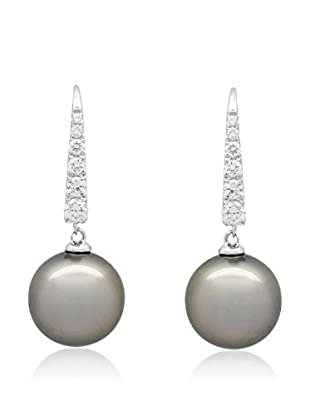Précieuses Perles Ohrringe 18 Karat (750) Weißgold