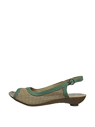 Fly London Zapatos destalonados Pari (Verde / Beige)