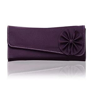 Fostelo Purple Flower Pattern Clutch