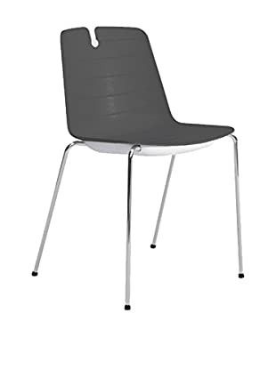 CONTRAST Set Silla 2 Uds. Mindy Gris Oscuro/Blanco