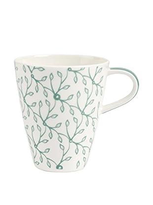 Villeroy & Boch AG Set Taza Mug 4 Uds. Caffe Club Floral Peppermint 0.35 L Blanco/Verde Menta