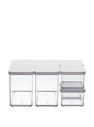 Rotho Frischhaltebox 5er Set Loft - Starter transparent/weiß