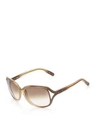 Chloé Women's Rectangular Sunglasses (Beige)
