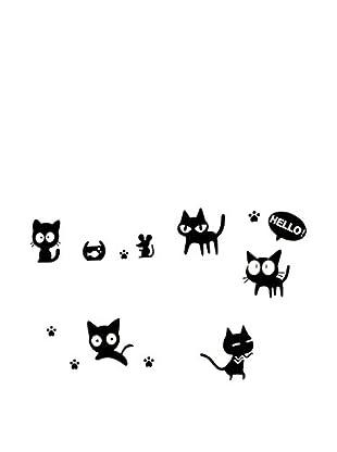 LO+DEMODA Vinilo Decorativo Diver Cats