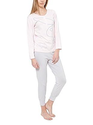 Play Boy Nightwear Pyjama Bunny Silver