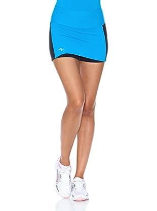 Naffta Falda Short Tenis / Padel (Turquesa / Gris)