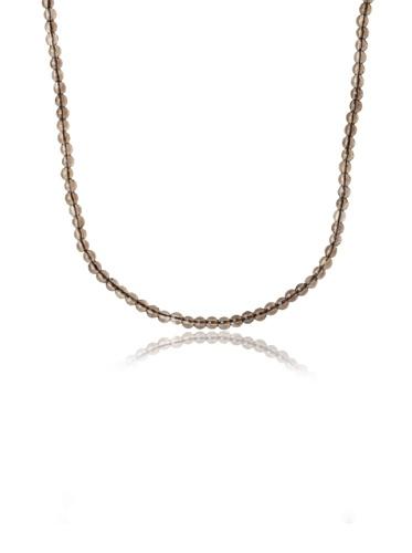 Catherine Angiel Beaded Necklace, Silver/Smokey Topaz
