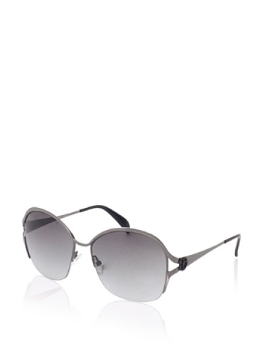 Giorgio Armani Women's 774/S Wrap Aviator Sunglasses, Dark Ruthenium