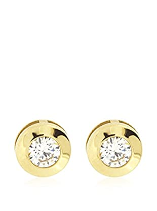 Gold & Diamonds Pendientes Chaton oro amarillo 18 ct