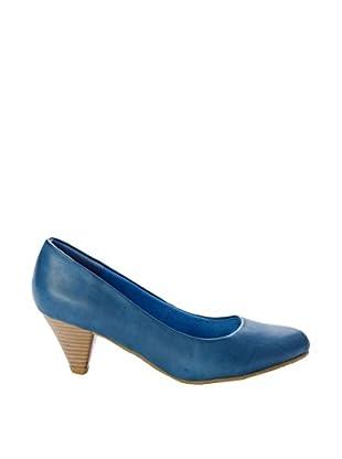 Destroy Zapatos Madera (Azul)