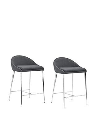 Zuo Modern Reykjavik Set of 2 Modern Counter Chairs