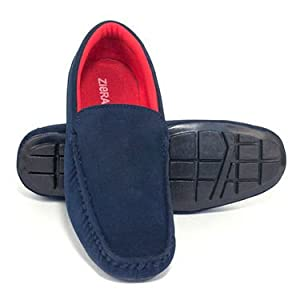 Ziera Faux Leather Loafers - Blue