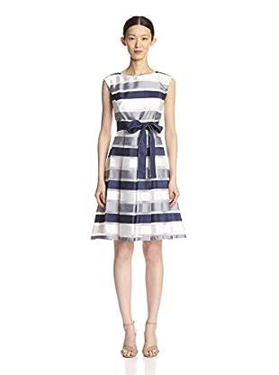 Chetta B Women's Stripe Fit & Flare Dress