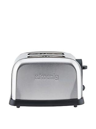 H.koenig Toaster TOS7 silberfarben