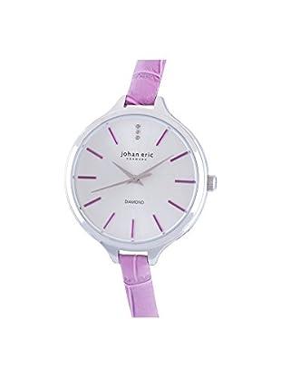 Johan Eric Women's JE2100-04-001.13 Herlev Slim Silver/Pink Leather Watch