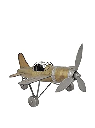 Three Hands Metal Airplane Tabletop Décor