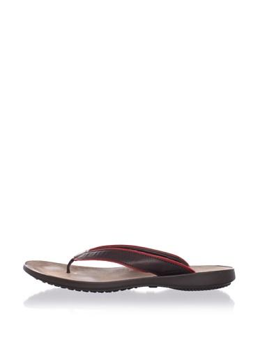Hogan Men's Bermuda Thong Sandal (Dark Brown/Red)