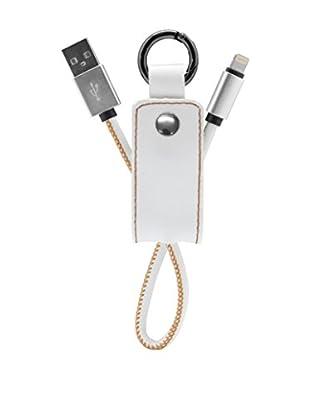 Unotec Schlüsselanhänger 8 Pin Style weiß