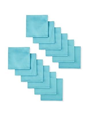 Garnier-Thiebaut Set of 12 Confetti Napkins, Turquoise