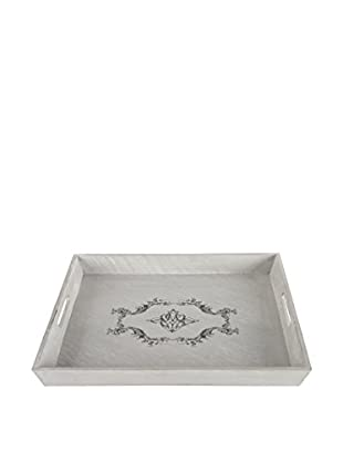 Square Wooden Scrollwork Tray