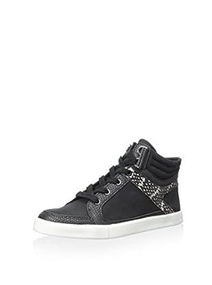 Calvin Klein Women's Lyda Sneaker (Black/White/Black)