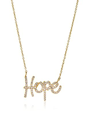 Tai 18K Gold-Plated CZ Hope Necklace