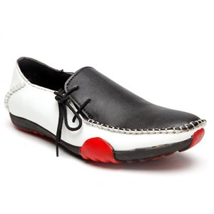 Bacca Bucci Casual Shoes (Black & White) - 3200BW