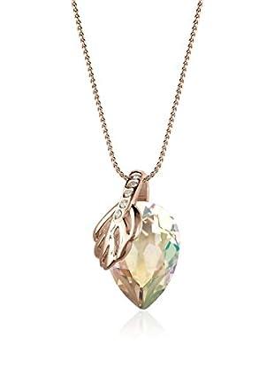 Annie Ram Collar Leaf And Pear Metal Rosado