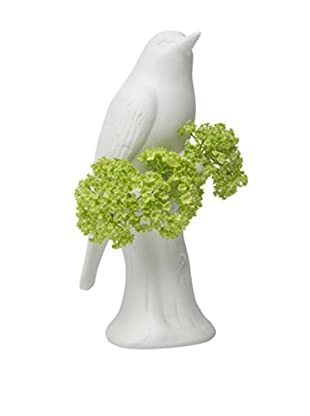 Chive Porcelain Bird Vase, Grey