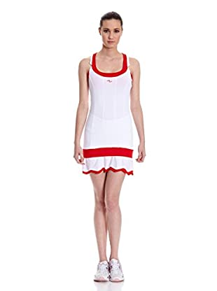 Naffta Vestido Tenis Pádel (Blanco / Rojo)