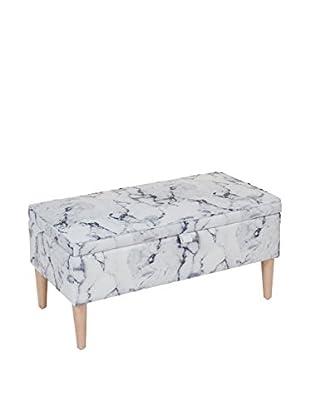 VINTAGE SELECTION Banco Contenedor Marble Storege Bench