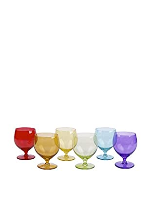 Molecuisine Wasserglas 6er Set Happy Color mehrfarbig