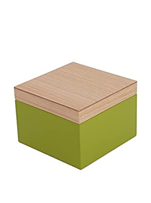 Wolf Designs Small Lacquer Wood Jewelry Box, Green