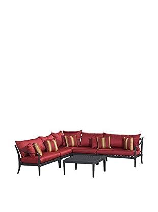RST Brands Astoria 6-Piece Corner Sectional Set, Red